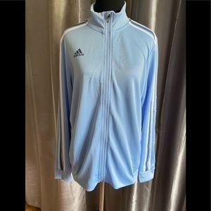Adidas light blue jacket